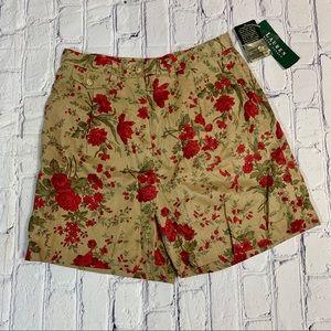 High Waisted Floral Tropical Shorts Ralph Lauren